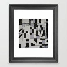 Silver Map Framed Art Print