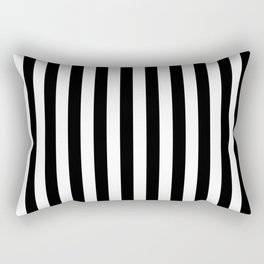 Black and white vertical stripes Rectangular Pillow