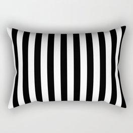 Black and white vertical stripes | Classic cabana Stripe Rectangular Pillow