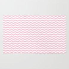 Pink Zigzag Design Rug