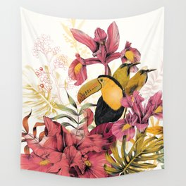 Tropical Garden Tucan Wall Tapestry