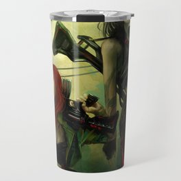 Hot pepper - Sci-fi soldier girls with weapons Travel Mug