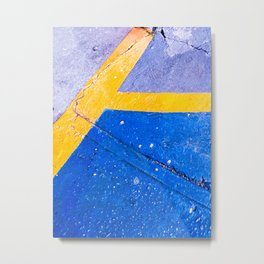 Abstract Blue and Yellow II Metal Print
