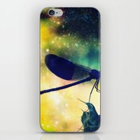 dragonfly iPhone & iPod Skins featuring Dragonfly by Luiza Lazar