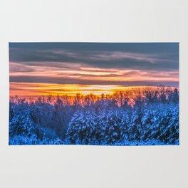 Magic winter sunset Rug