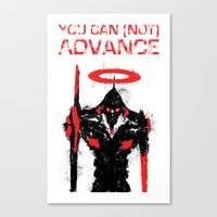 evangelion Canvas Prints featuring Evangelion Print by Rot Rabbit
