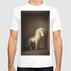 Paper Horse White Mens Fitted Tee MEDIUM