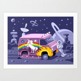 Groovy Future Art Print