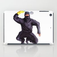 bathroom iPad Cases featuring Bathroom Ninja by Del Gaizo