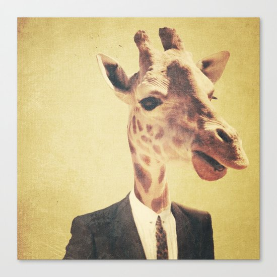 Humanimal: Giraffe  Canvas Print