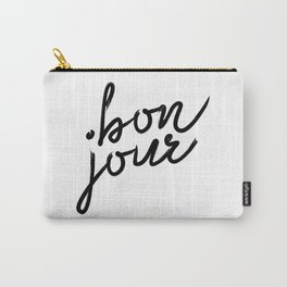 Bon Jour, French Quotes, French Prints, French Wall Prints, French Carry-All Pouch