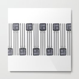 Small transistor DW9 PATTERN2 Metal Print
