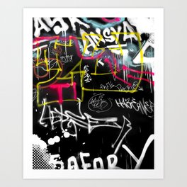 New York Traces - Urban Graffiti Art Print