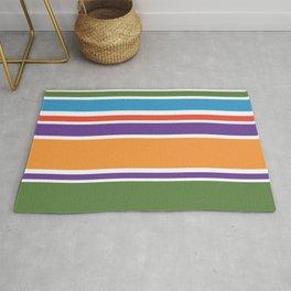 Modern Colorful Stripes Rug