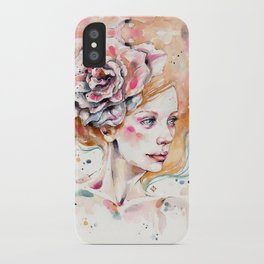 As Delicate As A Wildflower (female portrait) iPhone Case