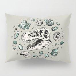 Geo-rex Vortex   Aquamarine   Dinosaur Skull Fossil Art Pillow Sham