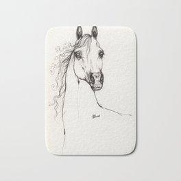 Arabian horse drawing Bath Mat
