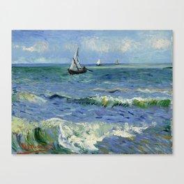 """Vincent Van Gogh """"The Sea at Les Saintes-Maries-de-la-Mer"""" Canvas Print"""