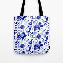 Flowers Print Tote Bag