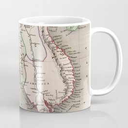 Vintage Map of The Burmese Empire (1832) Coffee Mug