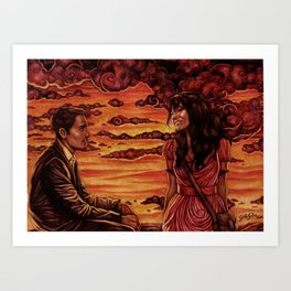 Our Sunset Art Print