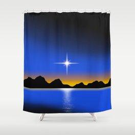 Star Horizon 101 Black Sky Shower Curtain