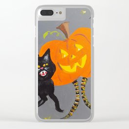 Jack and Black Cat Clear iPhone Case