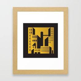 Golden city art deco Framed Art Print