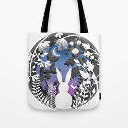 Moonlight Bunny Star Gazer Tote Bag