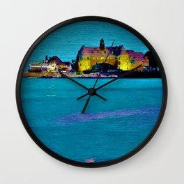 Narragansett Towers, Rhode Island Landscape by Jeanpaul Ferro Wall Clock