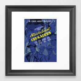 Jojo's Bizarre Adventure Steel Ball Run - 1930's Stardust Crusaders movie poster Framed Art Print
