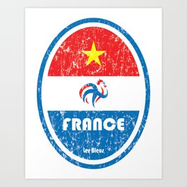 World Cup Football 7/8 - France (Distressed) Art Print