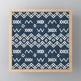 Farrah in Navy Blue Framed Mini Art Print