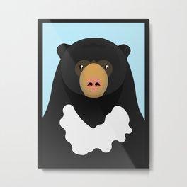 Sun bear Metal Print