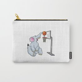Funny elephant is playing basketball Carry-All Pouch