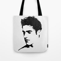 darren criss Tote Bags featuring Darren With Stars by byebyesally
