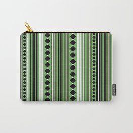 Verticals green Carry-All Pouch