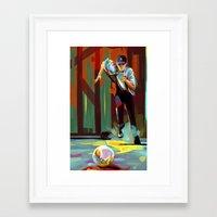 dodgers Framed Art Prints featuring The Showdown by Travis Clarke