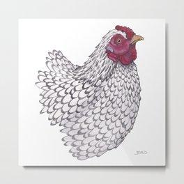 Wyandotte Chicken Metal Print