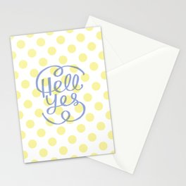 Hell Yes! (Yellow) Stationery Cards
