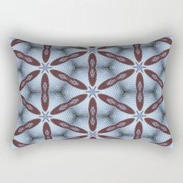 American Folk Red & Blue No. 02 Rectangular Pillow