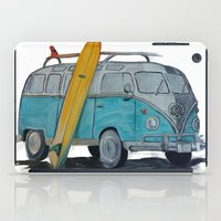 vw bus iPad Cases featuring VW Bus by AshyGough
