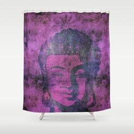 Watercolor Buddha Head Illustration Shower Curtain