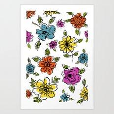 Floral Flair Art Print