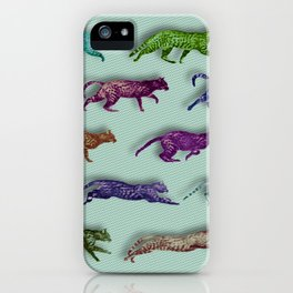 Time Lapse Motion Study Cat Green Background Cats Kitty Kitten Cat gift iPhone Case