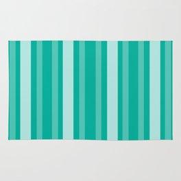 Aqua Victorian Lady Stripe Rug