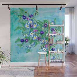 Watercolor Spring Bouquet  Wall Mural