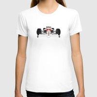 senna T-shirts featuring Senna MP4/4 by DasWauto