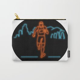 Marathon Runner Running Oval Neon Sign Carry-All Pouch