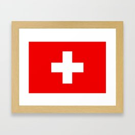 Flag of Switzerland - Authentic (High Quality Image) Framed Art Print
